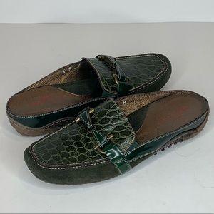 Sesto Meucci Womens Size 6M Mules Moc Croc Shoes